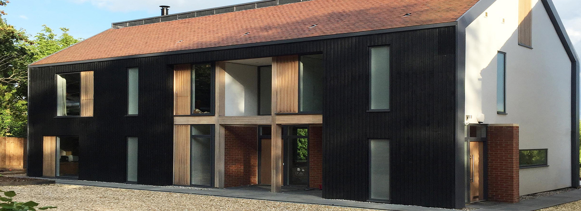 Home exterior with Thermowood cladding