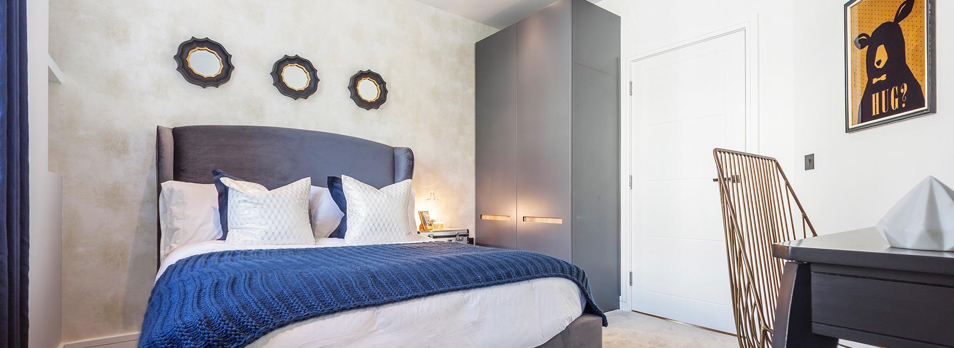Stylish contemporary bedroom