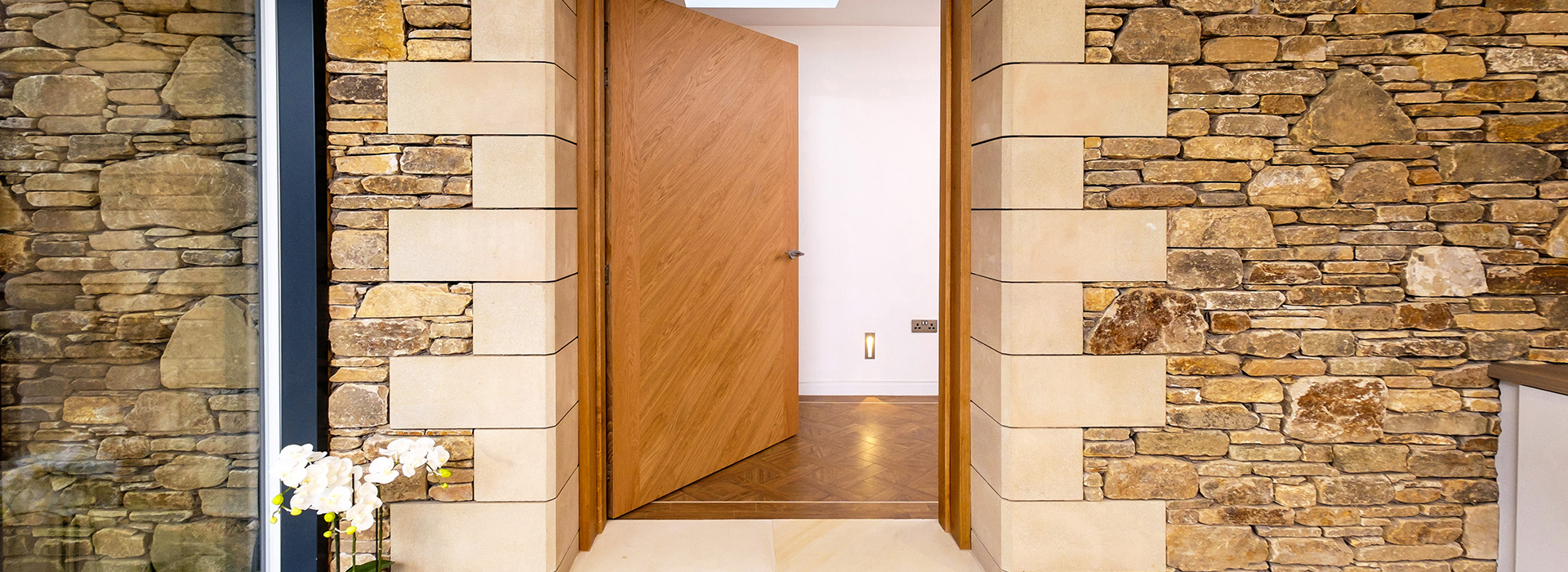 Oversized oak doors