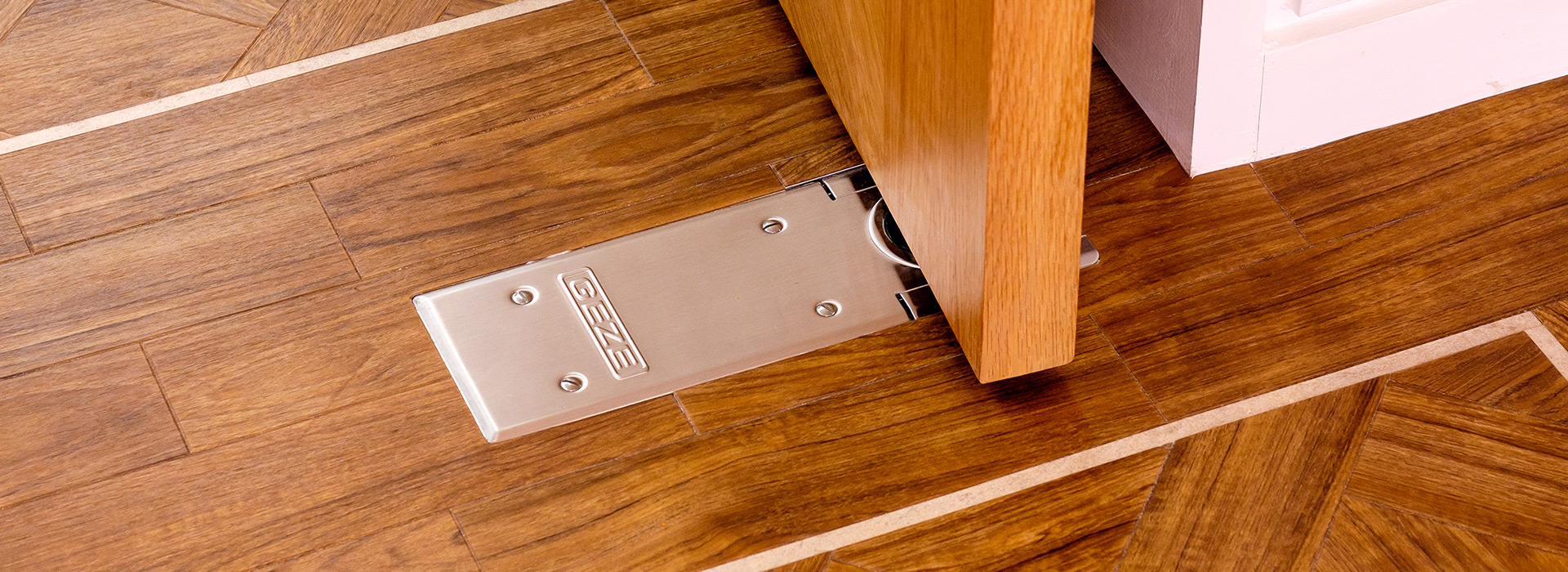 Brushed stainless steel door stop