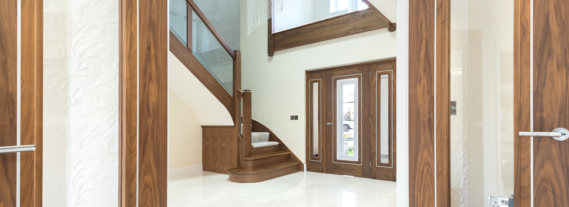 Walnut internal entrance doors