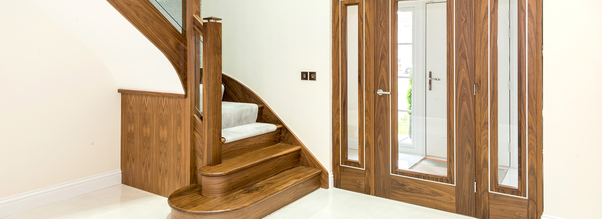Matching Walnut stairs and doors