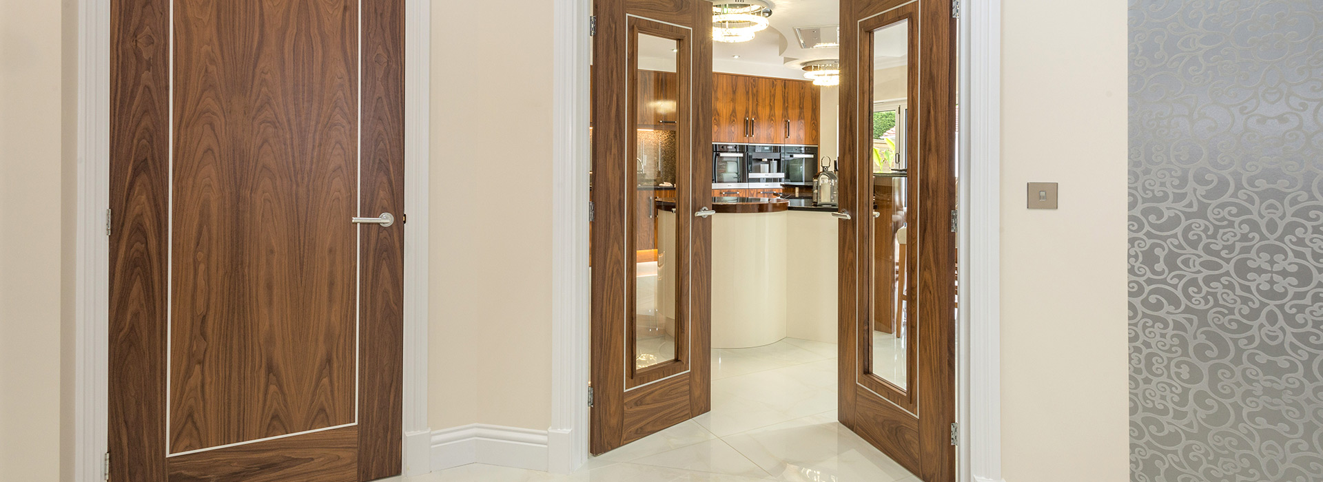 Glazed Walnut double doors