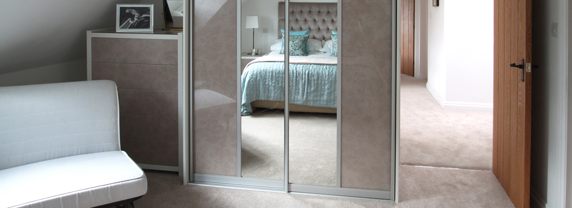 Modern sliding wardrobes for new build