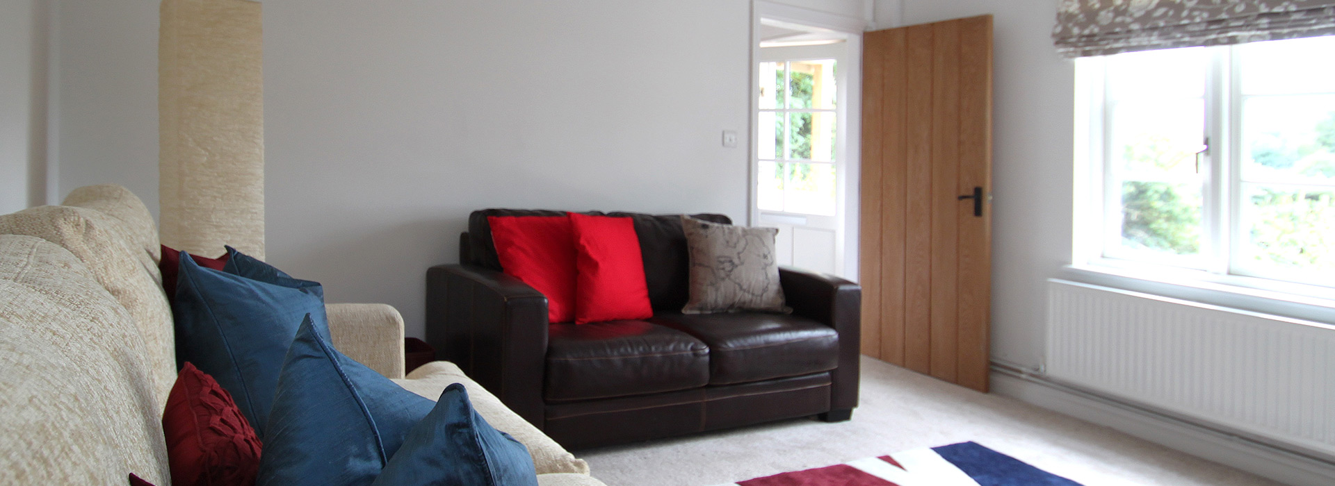 Relaxed home with comfy sofa