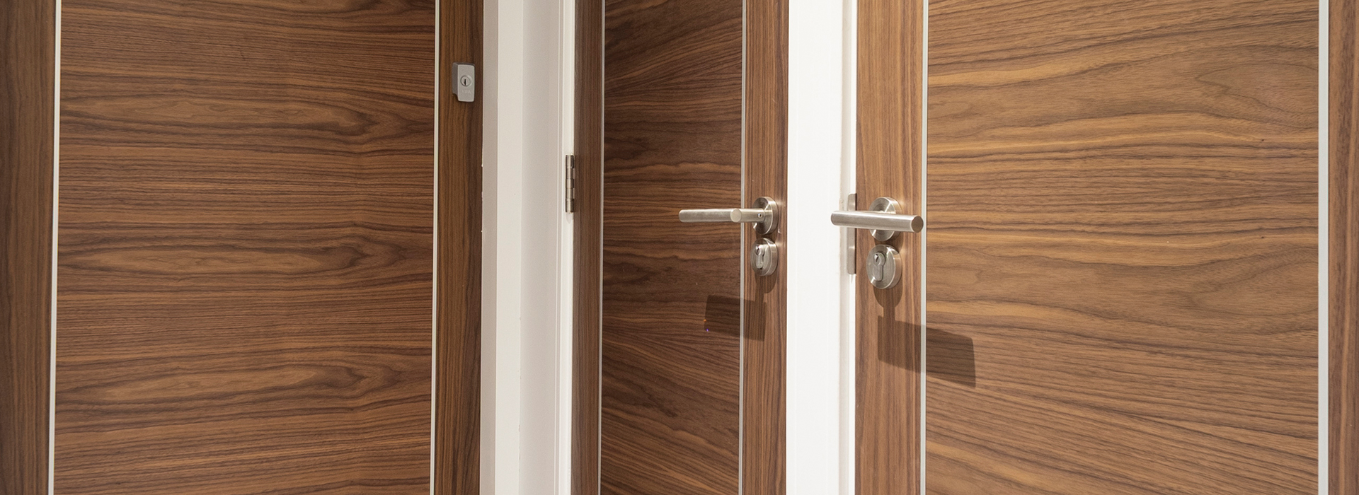 Walnut apartment doors