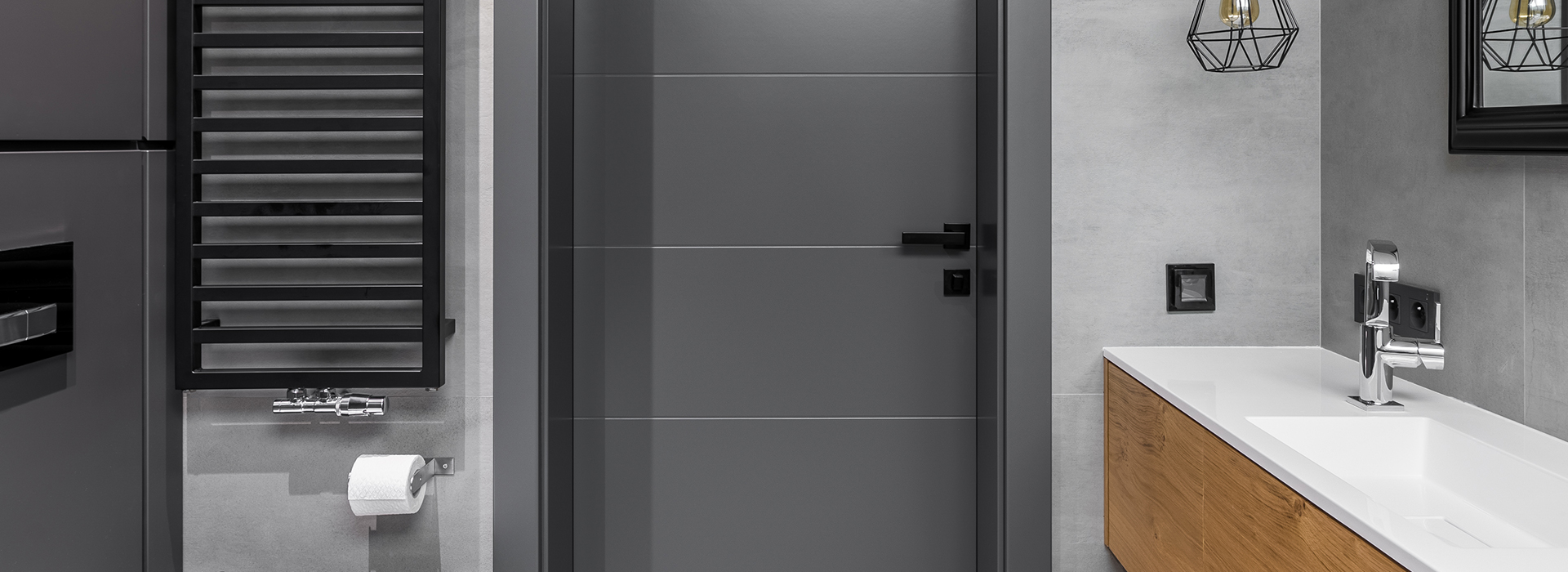 Grey RAL 9015 interior doors