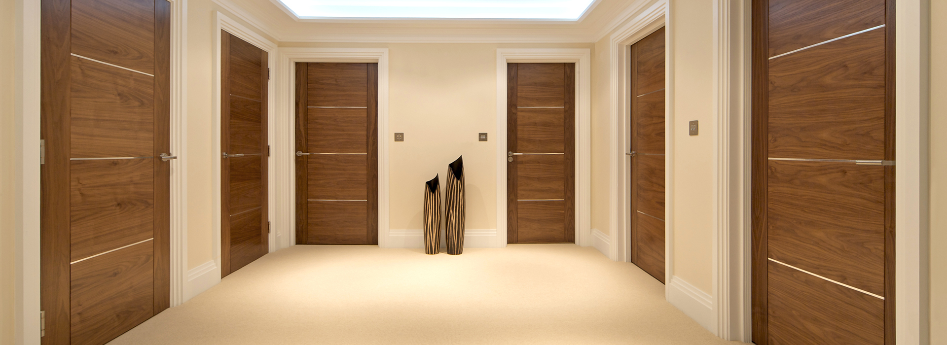 Modern walnut doors