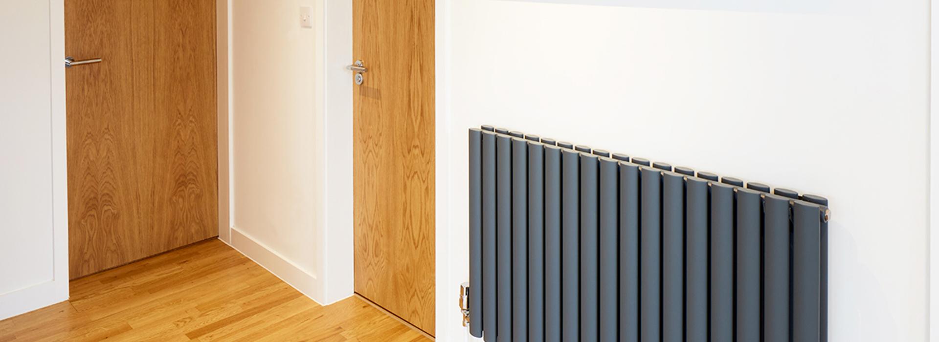 Matte black radiator