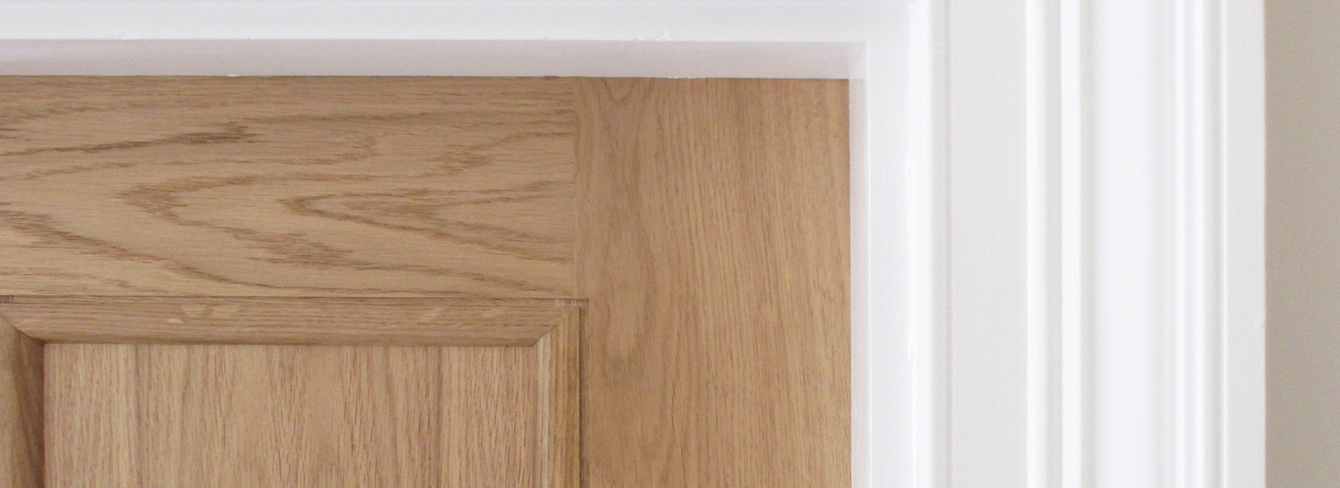 White painted architrave