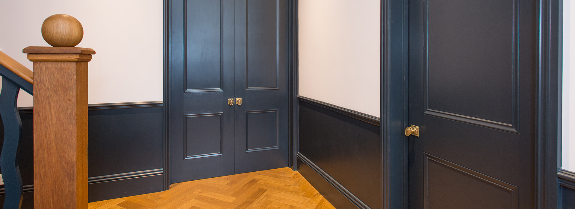 Hand painted internal doors
