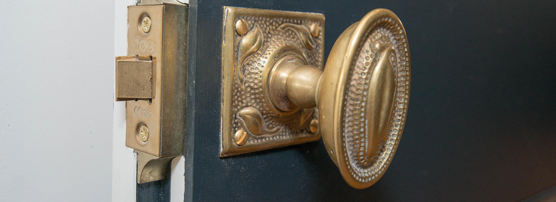 Traditional brass door handle