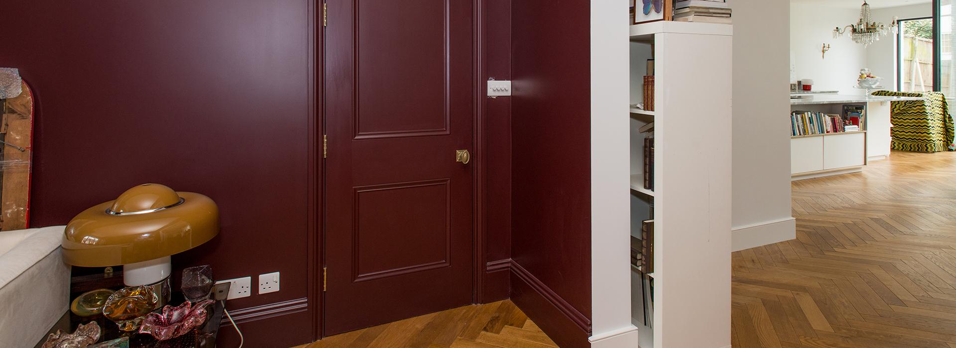 Burgundy interior doors