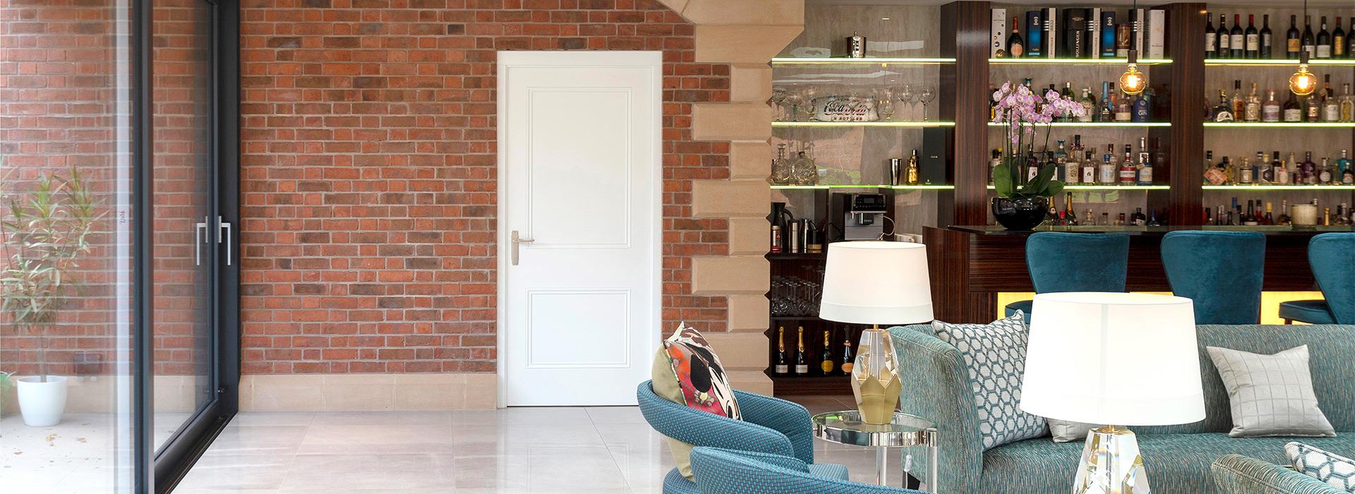 Luxury White Panelled Door