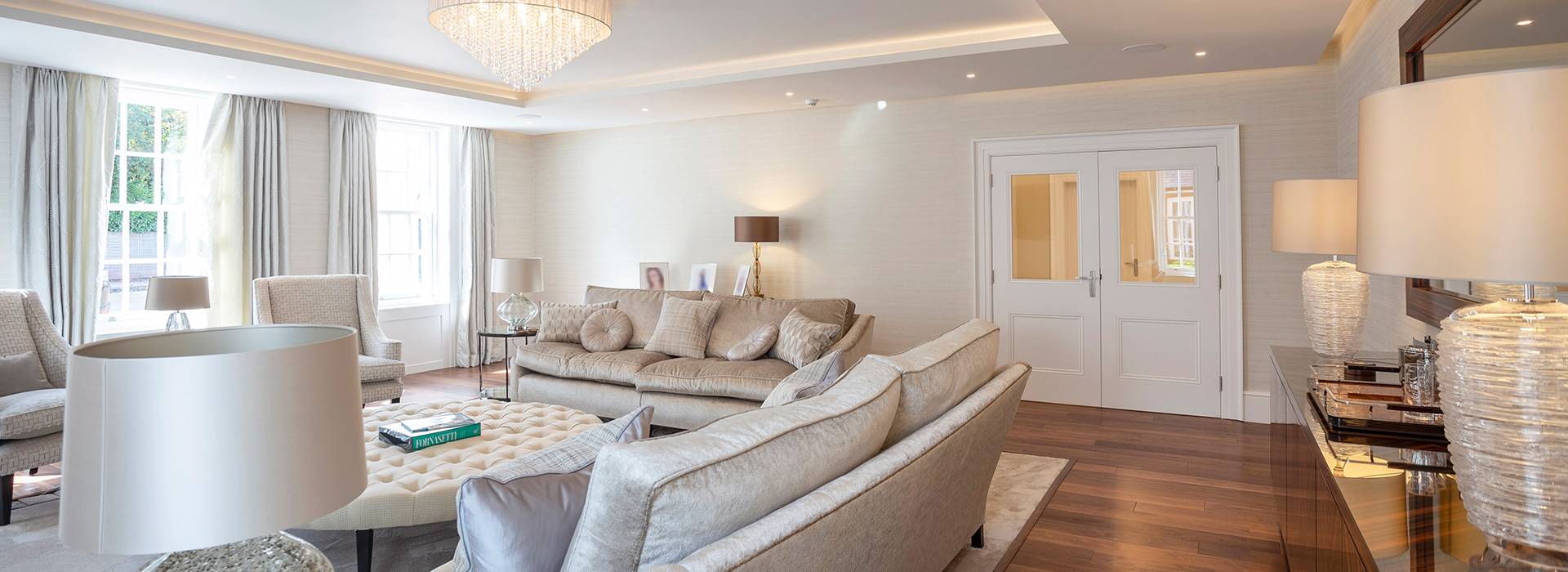 Luxury interior double doors