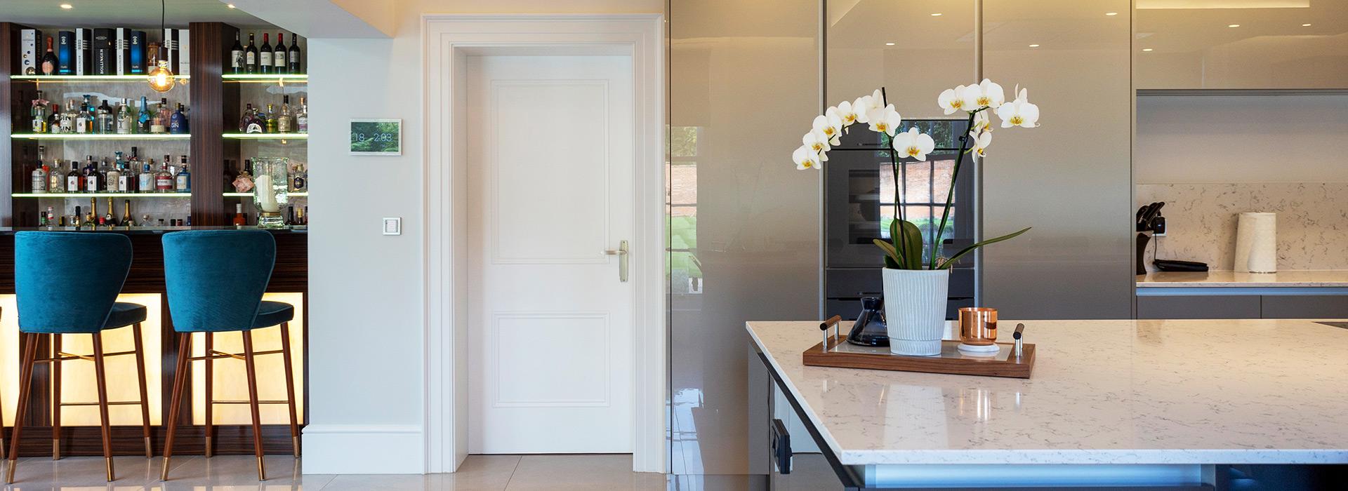 Home bar panelled door