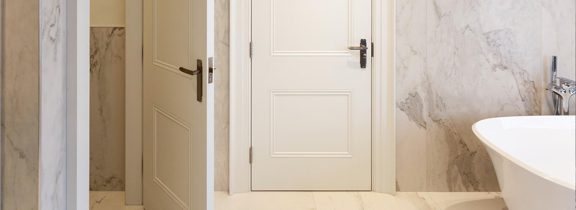 Luxury bathroom marble interior doors