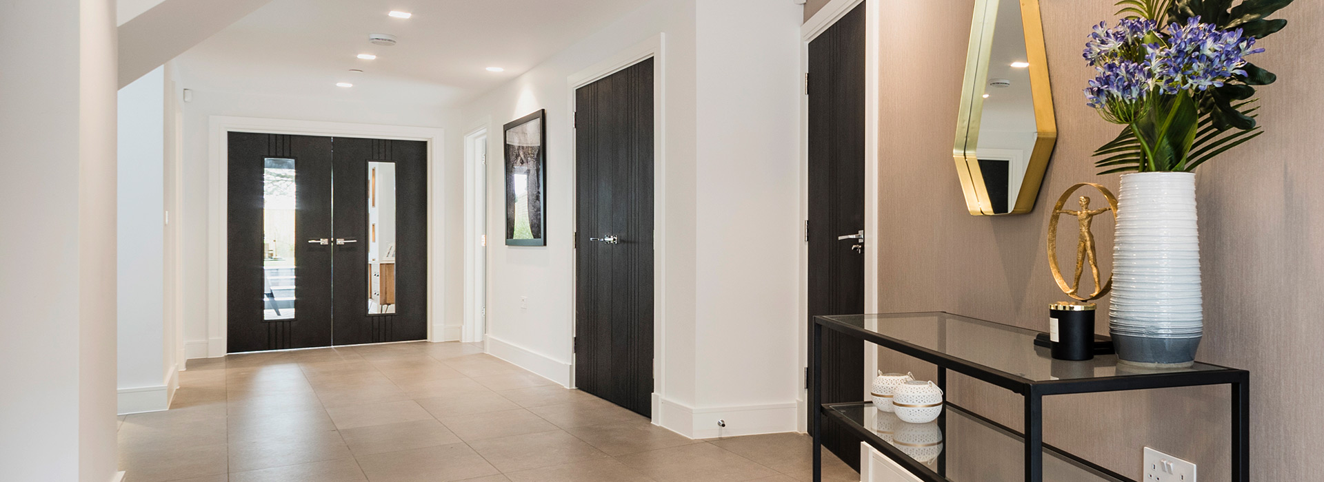 Black doors for hallway