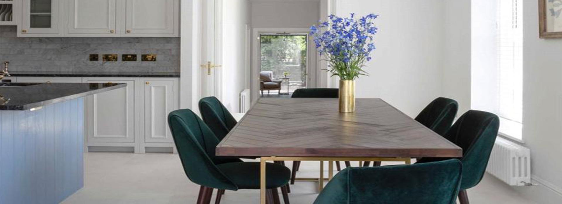 Herringbone dining table