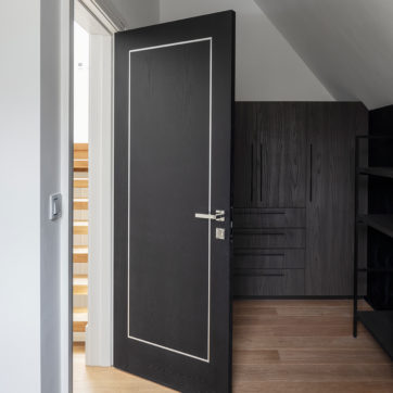 Black, Interior doors, metal inlay